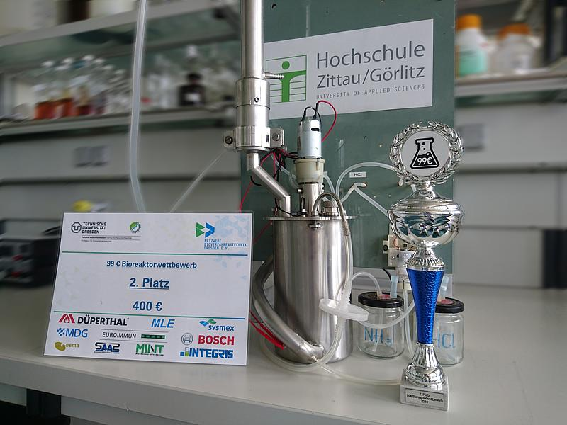 Bioreaktor des HSZG Teams