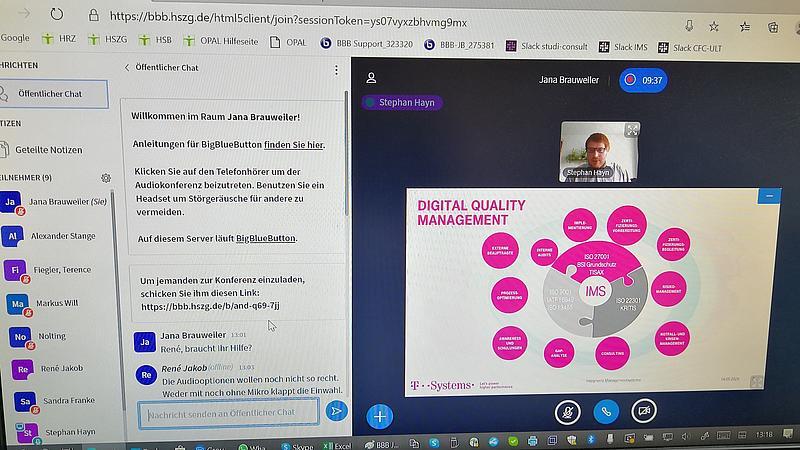 Screenshot Virtuelles IMS Seminar