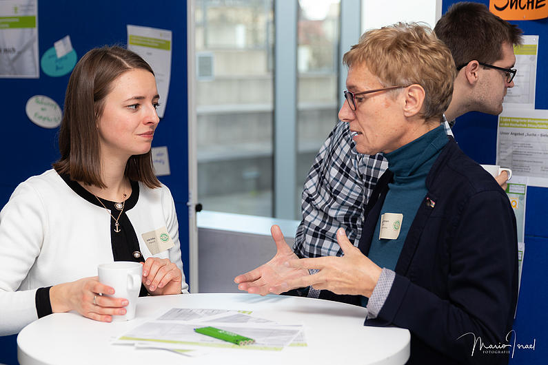 Individuelle Gespräche über IMS-Themen in den Pausen